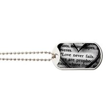 Love Never Fails Dog Tags