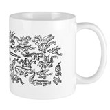 Lots O' Dragons black on white Coffee Mug