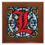 Stained Glass L Framed Tile