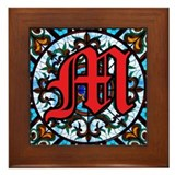 Stained Glass M Framed Tile