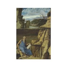 Saint Jerome and the Lion Rectangle Magnet