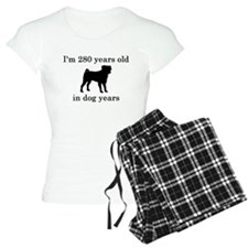 40 birthday dog years pug Pajamas
