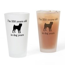 50 birthday dog years pug Drinking Glass