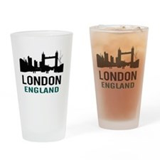 London England (green) Drinking Glass