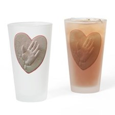 Kaylas Heart and Hand Drinking Glass