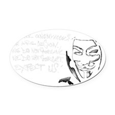 Anonymous 99% Occupy t-shirt Oval Car Magnet