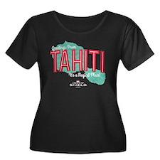 A Magica Women's Plus Size Scoop Neck Dark T-Shirt