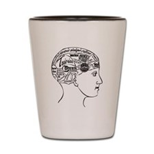 Phrenology Shot Glass