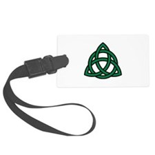 Green Celtic knot Luggage Tag