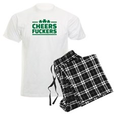 Cheers fuckers shamrocks pajamas