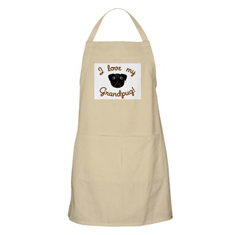 I love my Grandpug (Black) BBQ Apron