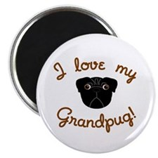 I love my Grandpug (Black) Magnet