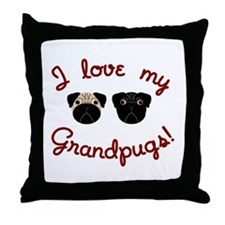 I love my Grandpugs Throw Pillow