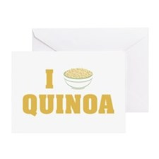 I Love Quinoa Greeting Cards