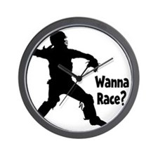 black Wanna Race on black Wall Clock