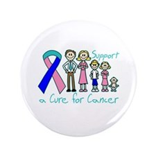 "Thyroid Cancer Support A Cure 3.5"" Button"