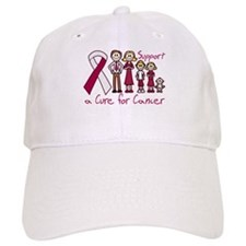Throat Cancer Support A Cure Baseball Cap