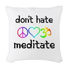meditate Woven Throw Pillow