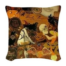 Witchs Stew Woven Throw Pillow
