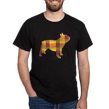 plaid french bulldog T-Shirt