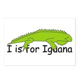 I is for Iguana Postcards (Package of 8)