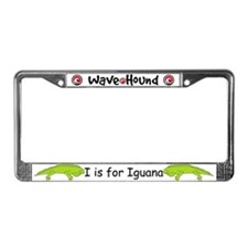 I is for Iguana License Plate Frame