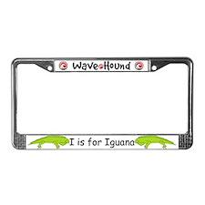 I is for Iguana License Plate Frame