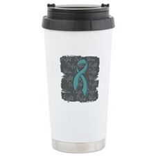 PCOS Fight Defy Win Travel Mug