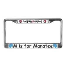 M is for Manatee License Plate Frame