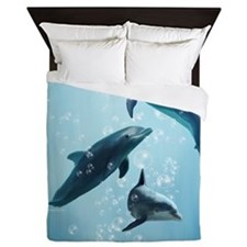 Dolphins in the Sea Queen Duvet
