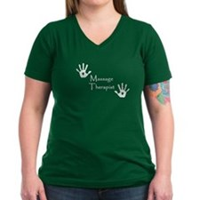 Handprints Women's V-Neck T (Dark)