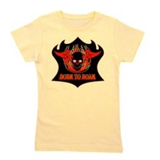 Born To Roam Fire Skull Girl's Tee