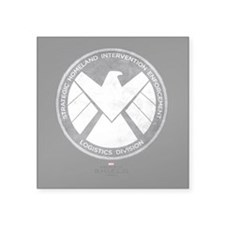 "Metal Shield Square Sticker 3"" x 3"""