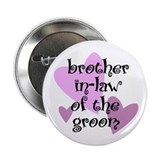Brother In-law of the Groom Button