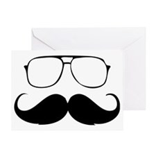 Mustache Greeting Card