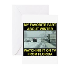 Watching It On TV In FLA Greeting Cards (Pk of 20)