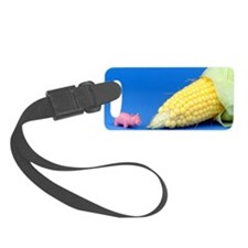 Pig Corn Luggage Tag