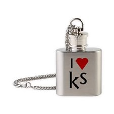 I heart KS Flask Necklace