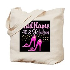 40TH PINK SHOES Tote Bag