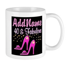 40TH PINK SHOES Small Mug