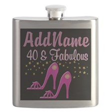 40TH PINK SHOES Flask