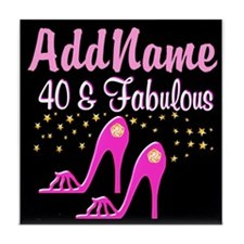 40TH PINK SHOES Tile Coaster