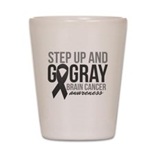 Step Up and Go Gray Shot Glass
