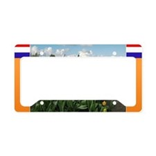 Holland Windmill and Tulips License Plate Holder