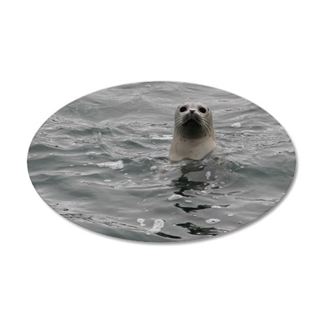 Harbor Seal 35x21 Oval Wall Decal