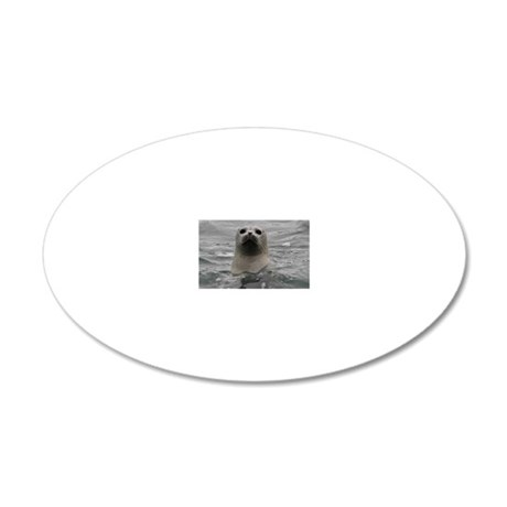 Harbor Seal 20x12 Oval Wall Decal