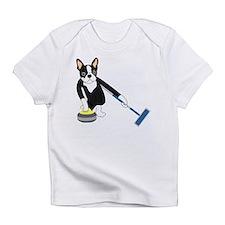 Boston Terrier Olympic Curling Infant T-Shirt