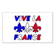 Vive La France Rectangle Decal