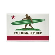 California Republic Bigfoot Rectangle Magnet