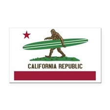 California Republic Bigfoot Rectangle Car Magnet